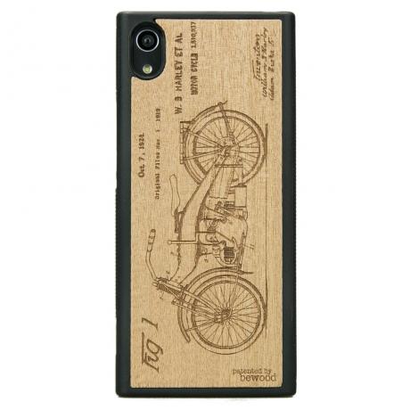Drewniane Etui Sony Xperia XA1 HARLEY PATENT ANIEGRE
