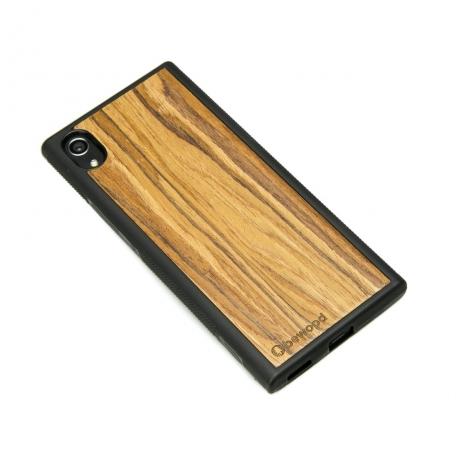 Drewniane Etui Sony Xperia XA1 OLIWKA