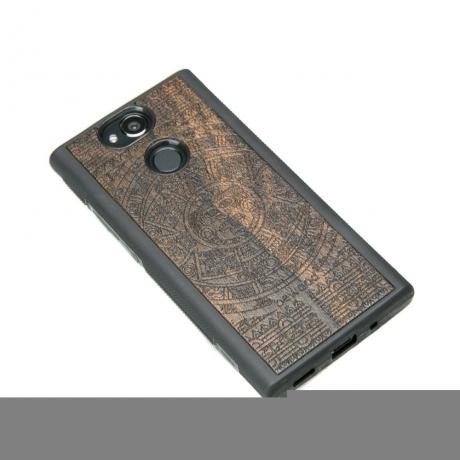 Drewniane Etui Sony Xperia XA2 KALENDARZ AZTECKI ZIRICOTE