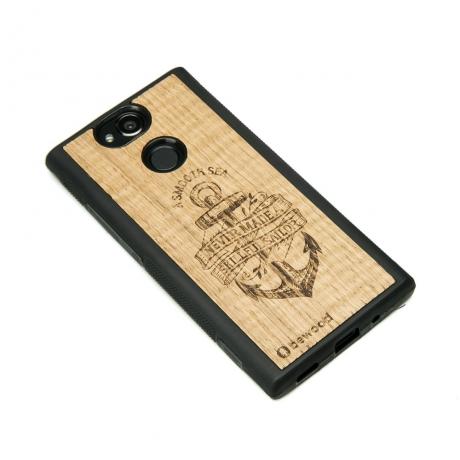 Drewniane Etui Sony Xperia XA2 KOTWICA DĄB