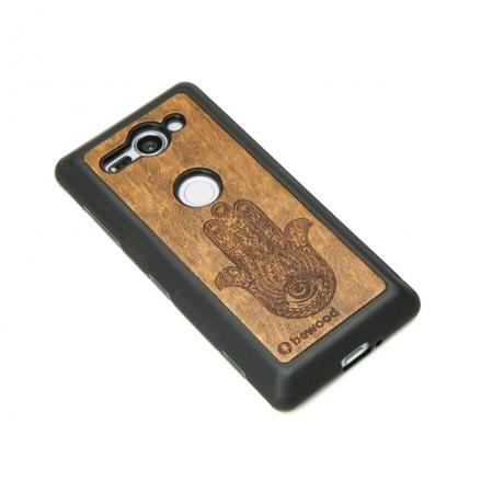Drewniane Etui Sony Xperia XZ2 Compact HAMSA IMBUIA