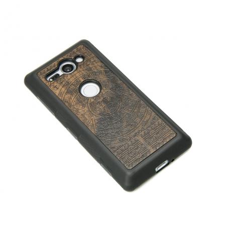 Drewniane Etui Sony Xperia XZ2 Compact KALENDARZ AZTECKI ZIRICOTE