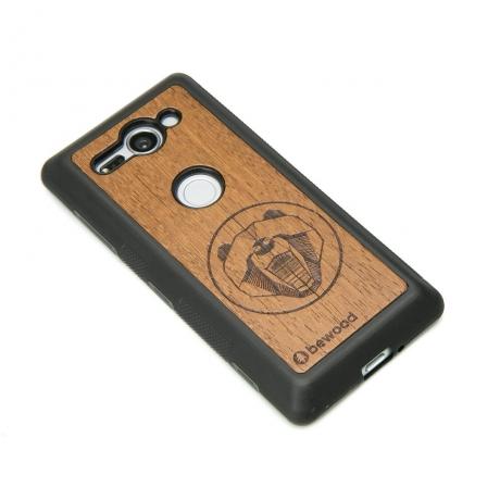 Drewniane Etui Sony Xperia XZ2 Compact NIEDŹWIEDŹ MERBAU