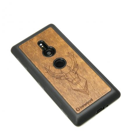 Drewniane Etui Sony Xperia XZ2 JELEŃ IMBUIA