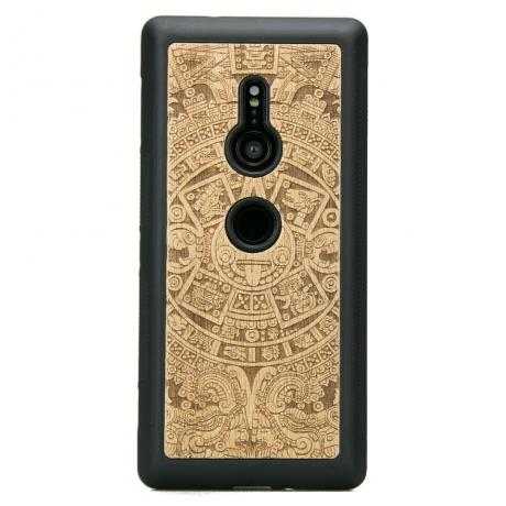 Drewniane Etui Sony Xperia XZ2 KALENDARZ AZTECKI ANIEGRE