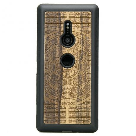 Drewniane Etui Sony Xperia XZ2 KALENDARZ AZTECKI LIMBA