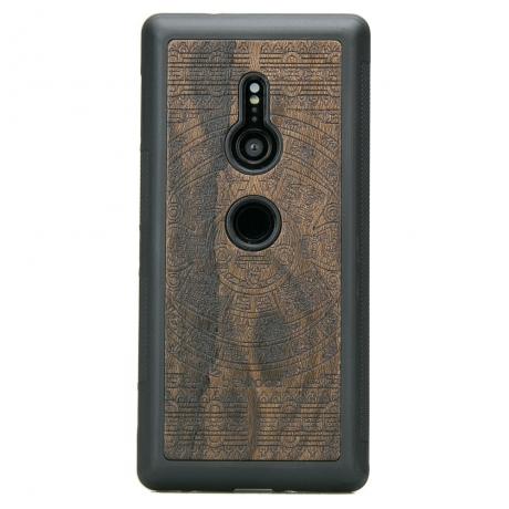 Drewniane Etui Sony Xperia XZ2 KALENDARZ AZTECKI ZIRICOTE