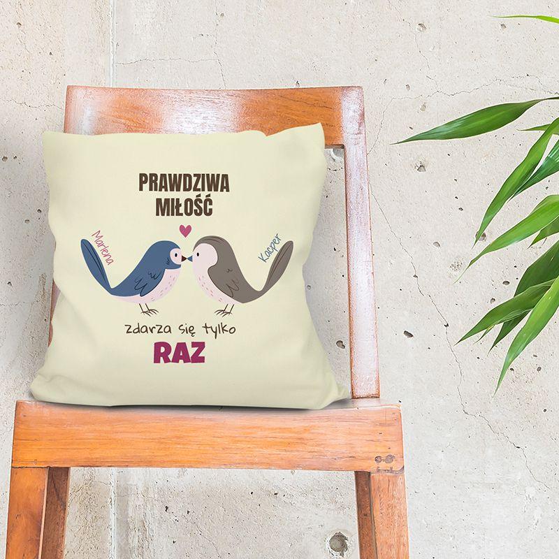 Poduszka z ptaszkami personalizowana | 100% oryginalny nadruk