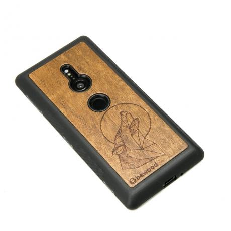 Drewniane Etui Sony Xperia XZ2 WILK IMBUIA