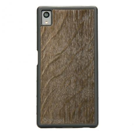 Drewniane Etui Sony Xperia Z5 DĄB WĘDZONY