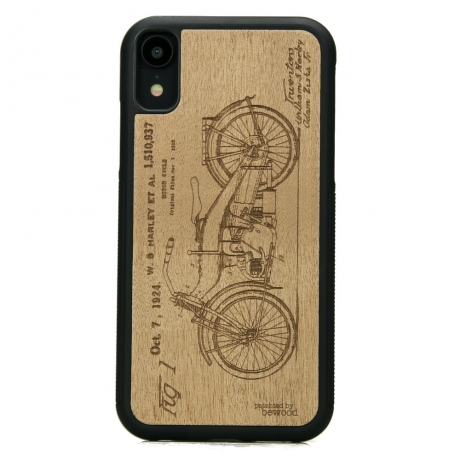 Drewniane Etui iPhone XR HARLEY PATENT ANIEGRE