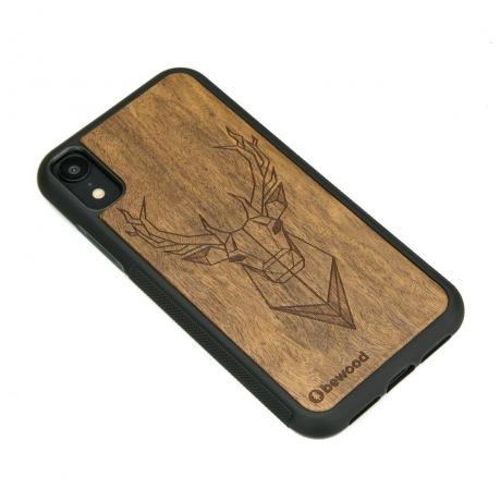 Drewniane Etui iPhone XR JELEŃ IMBUIA