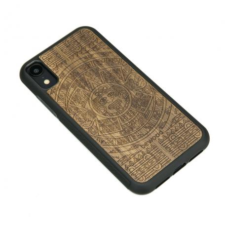 Drewniane Etui iPhone XR KALENDARZ AZTECKI LIMBA