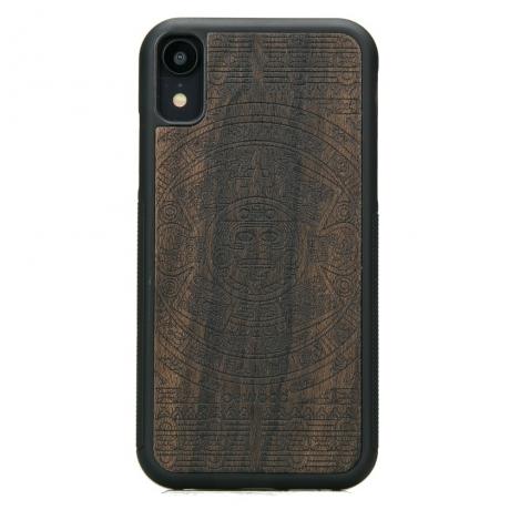 Drewniane Etui iPhone XR KALENDARZ AZTECKI ZIRICOTE