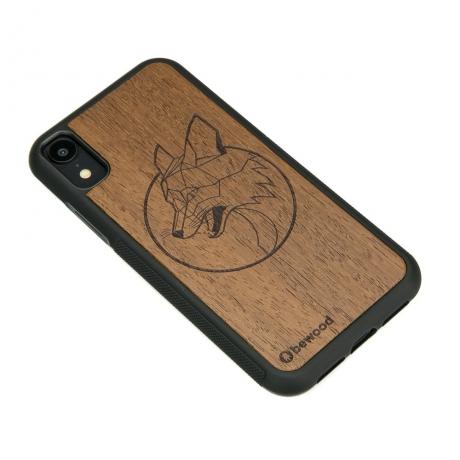 Drewniane Etui iPhone XR LIS MERBAU