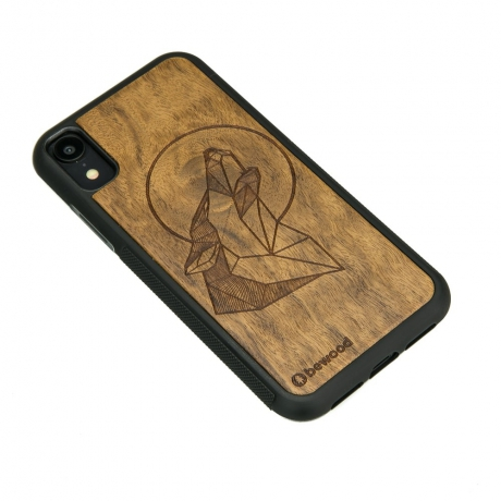Drewniane Etui iPhone XR WILK IMBUIA