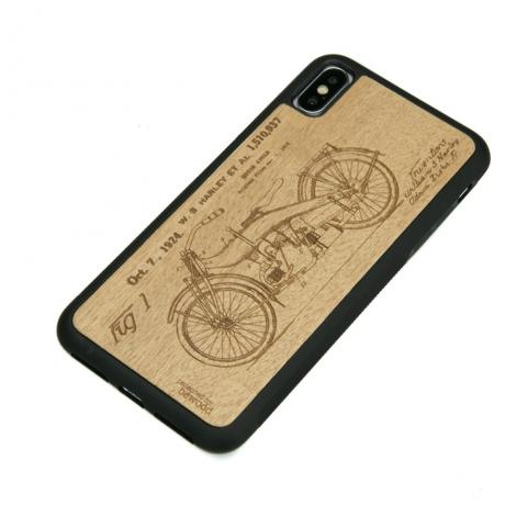 Drewniane Etui iPhone XS Max HARLEY PATENT ANIEGRE