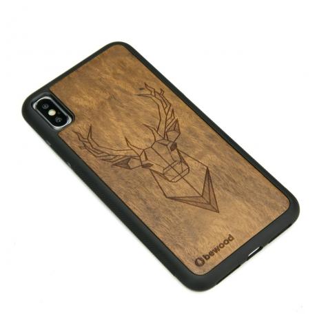 Drewniane Etui iPhone XS Max JELEŃ IMBUIA