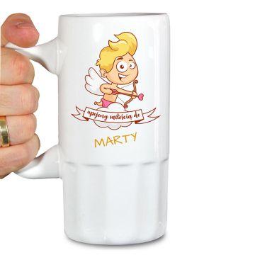 Kufel do piwa z aniołem personalizowany | 100% unikat!