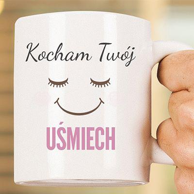 Kubek z uśmiechem (uśmiechnięty kubek) personalizowany ceramiczny