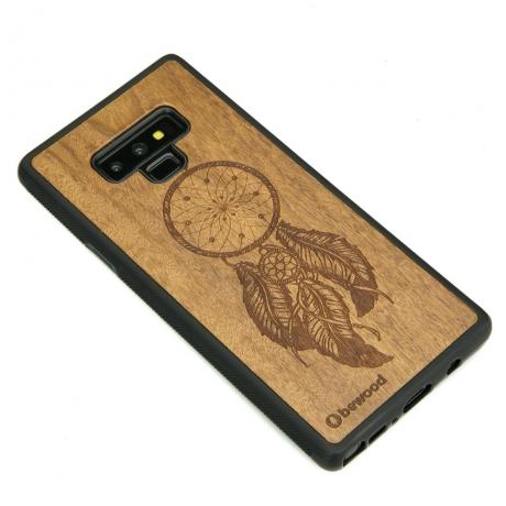 Drewniane Etui Samsung Galaxy Note 9 ŁAPACZ SNÓW IMBUIA