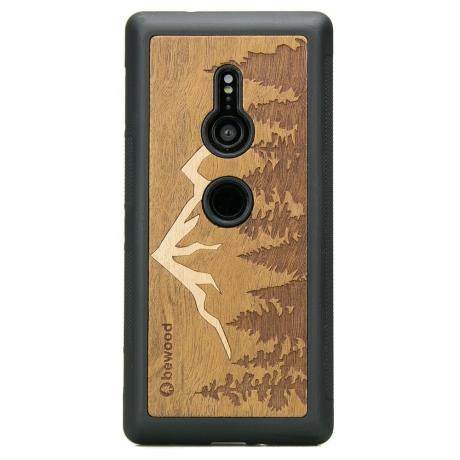 Drewniane Etui Sony Xperia XZ3 GÓRY IMBUIA