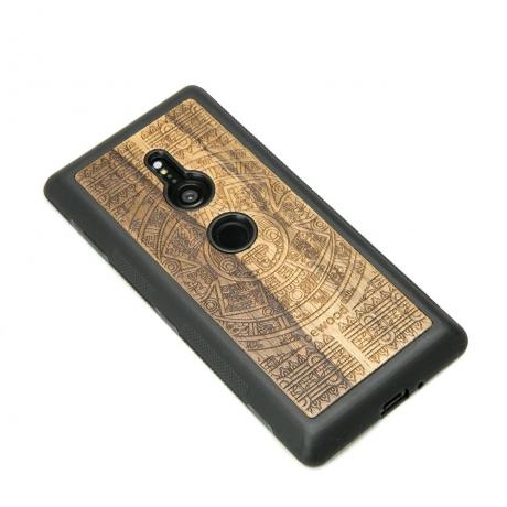 Drewniane Etui Sony Xperia XZ3 KALENDARZ AZTECKI LIMBA