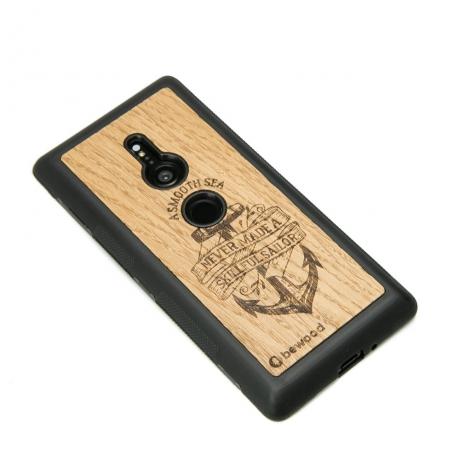 Drewniane Etui Sony Xperia XZ3 KOTWICA DĄB