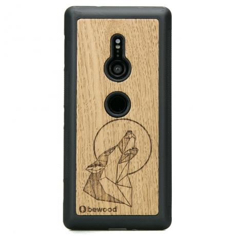 Drewniane Etui Sony Xperia XZ3 WILK DĄB