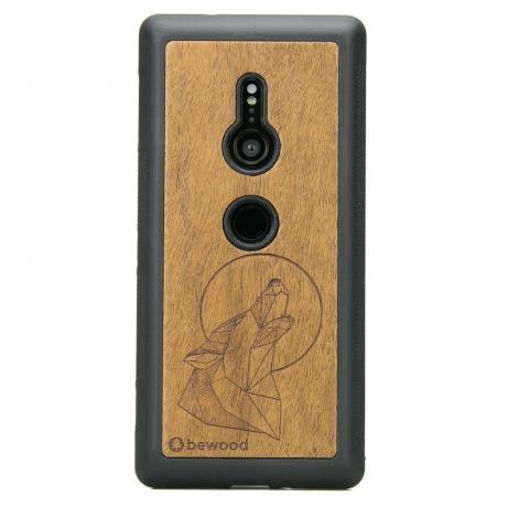 Drewniane Etui Sony Xperia XZ3 WILK IMBUIA