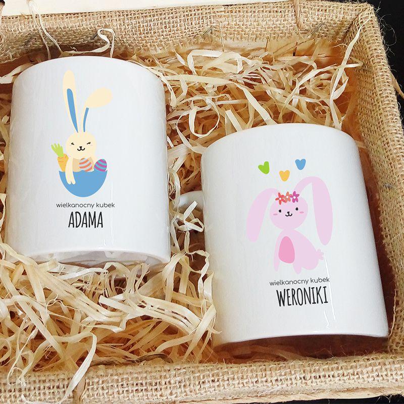 2 Kubki Wielkanocne dla pary z imionami (personalizowane)