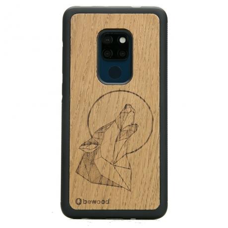 Drewniane Etui Huawei Mate 20 WILK DĄB