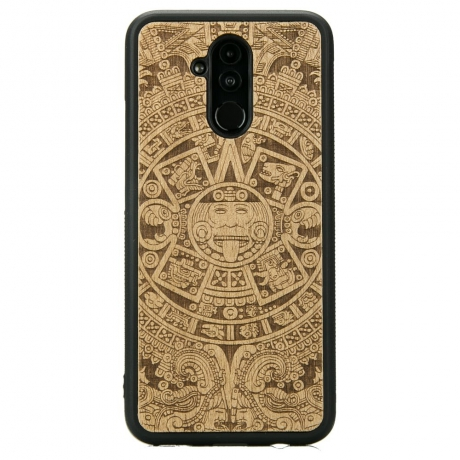 Drewniane Etui Huawei Mate 20 Lite KALENDARZ AZTECKI ANIEGRE