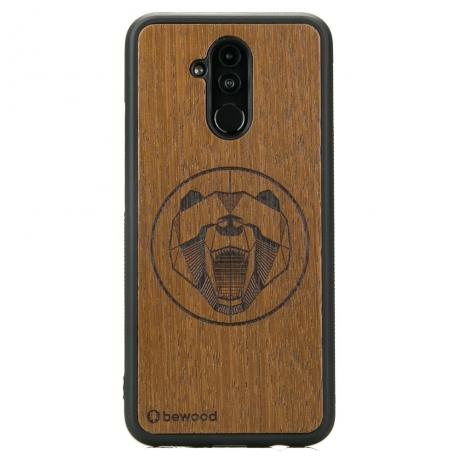 Drewniane Etui Huawei Mate 20 Lite NIEDŹWIEDŹ MERBAU