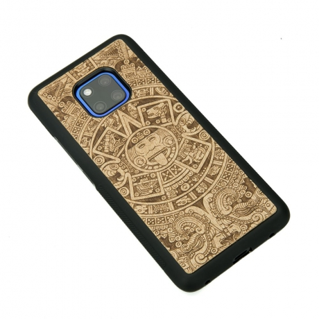 Drewniane Etui Huawei Mate 20 Pro KALENDARZ AZTECKI ANIEGRE