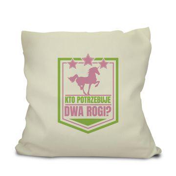 Śmieszna poduszka z motywem jednorożca (personalizowana)