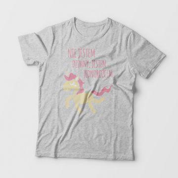 Śmieszna koszulka w jednorożca (personalizowana) 100% bawełna