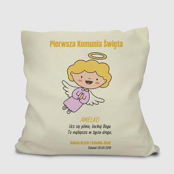 Poduszka komunijna dla dziewczynki personalizowana