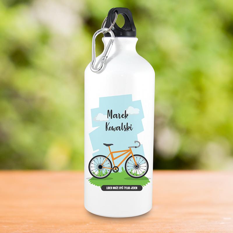 Bidon dla rowerzysty z nadrukiem