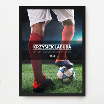 Plakat z nadrukiem dla fana piłki nożnej