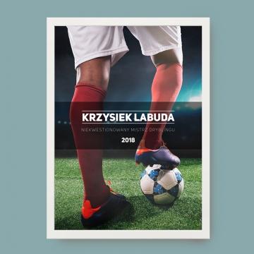 Plakat z własnym nadrukiem dla fana piłki