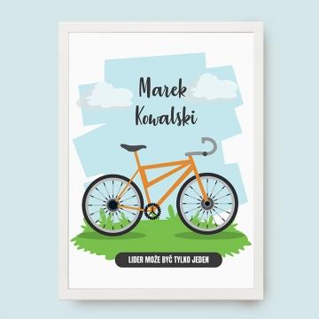 Plakat dla rowerzysty w ramce na ścianę
