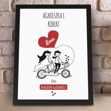 Plakat dla zakochanych w ramce