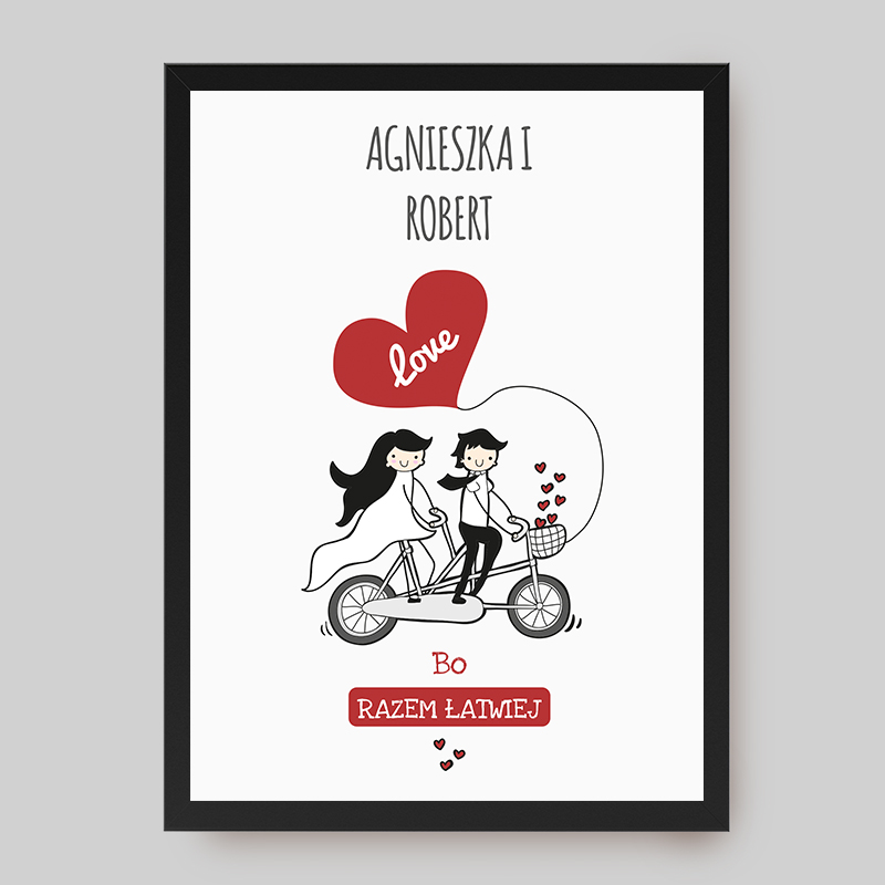 Plakat romantyczny w ramce