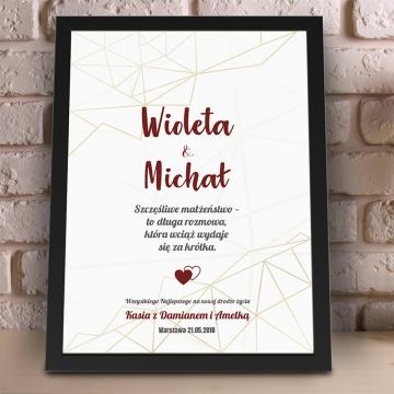 Plakat na prezent ślubny