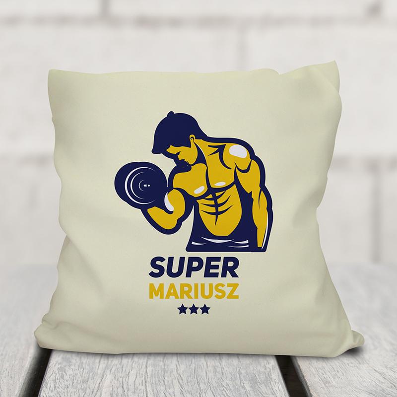 Poduszka dla chłopaka siłacza