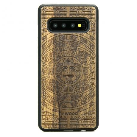 Drewniane Etui Samsung Galaxy S10 KALENDARZ AZTECKI LIMBA