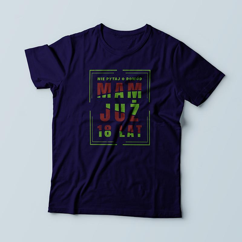 Koszulka dla chłopaka na 18 urodziny