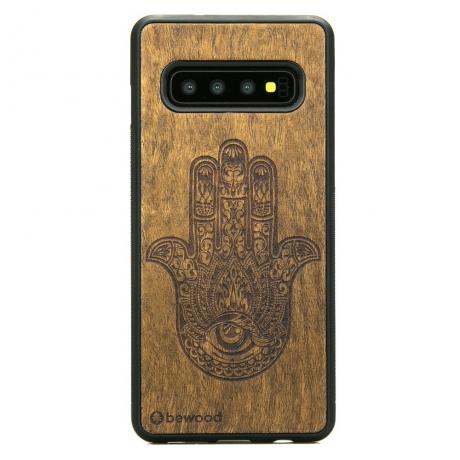 Drewniane Etui Samsung Galaxy S10+ HAMSA IMBUIA