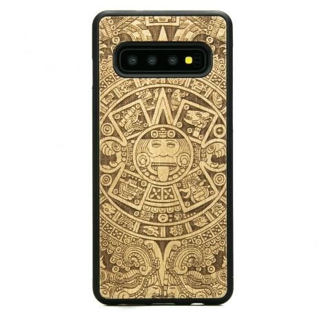 Drewniane Etui Samsung Galaxy S10+ KALENDARZ AZTECKI ANIEGRE